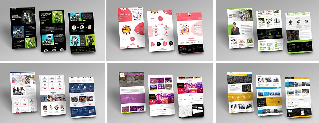 WordPress Landing Page Mockups