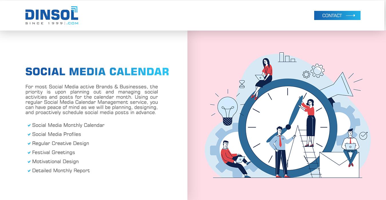 Social Media Calendar Management Service